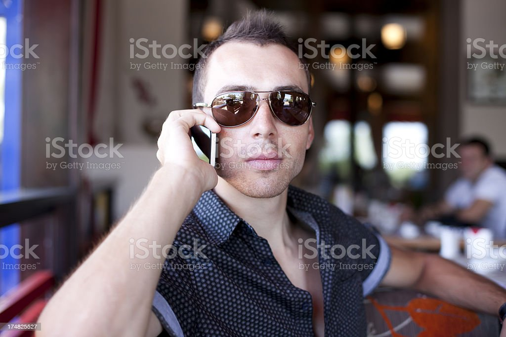 Young Man On The Phone royalty-free stock photo