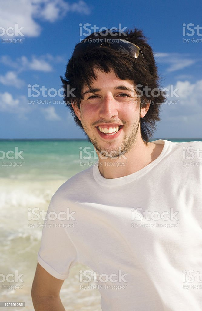Young Man on Vacation royalty-free stock photo