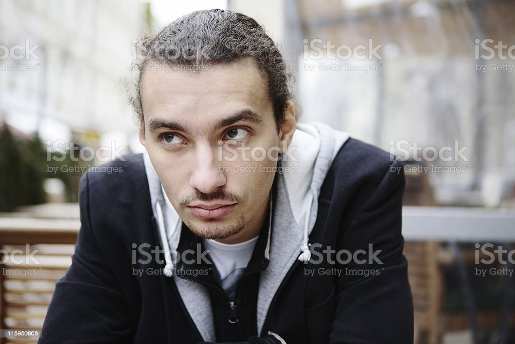 Young Man Outdoor Portrait royalty-free stock photo