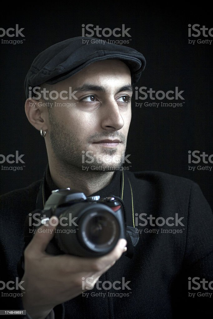 Young man photographer royalty-free stock photo