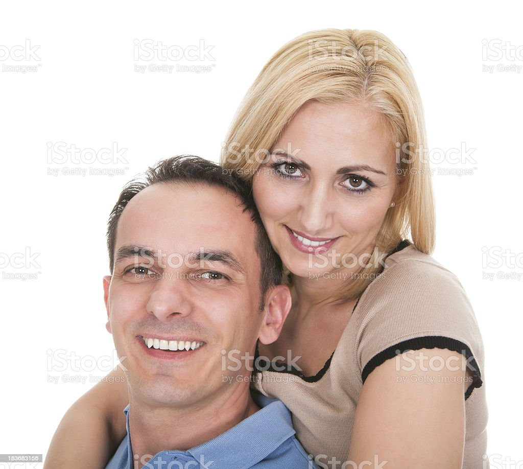 Young Man Piggybacking Woman royalty-free stock photo