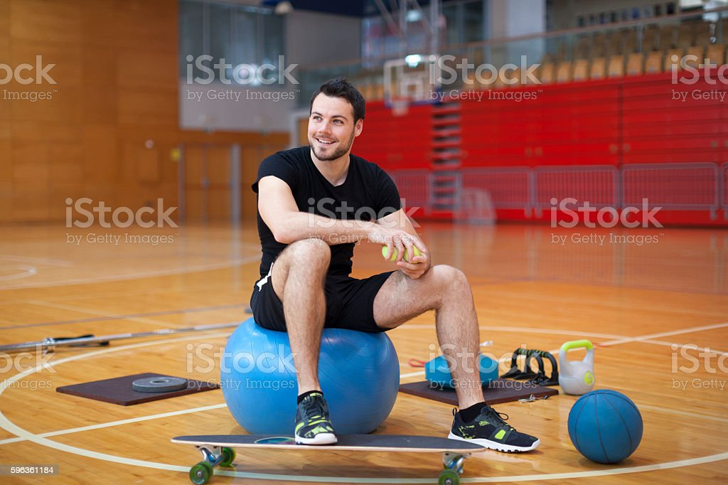 Young Man Portrait in Gym royalty-free stock photo