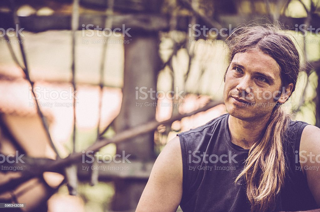 Young Man Portrait outdoors royalty-free stock photo