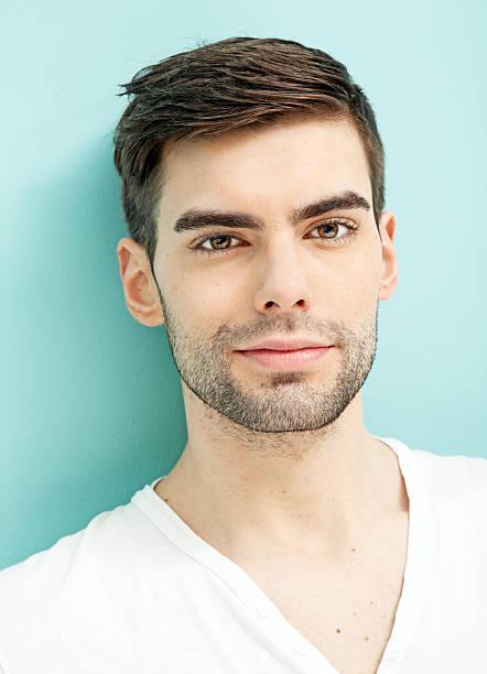 Young man portrait stock photo