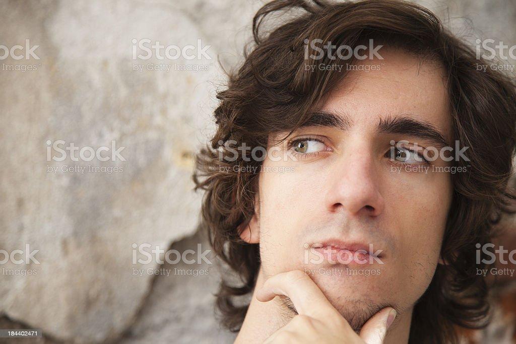 Young man posing at camera royalty-free stock photo
