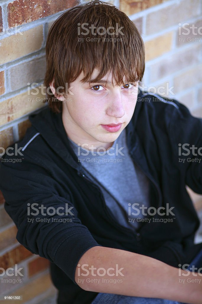Young man posing for a portrait stock photo