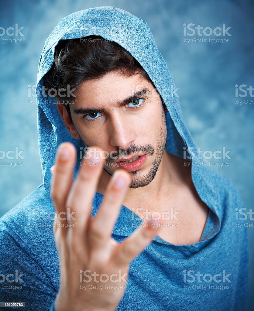 Young man posing in front of the camera royalty-free stock photo
