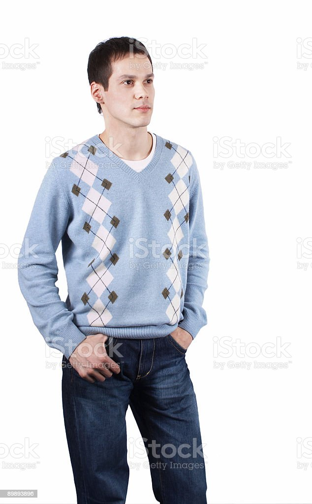 Young man posing, look forward royalty-free stock photo