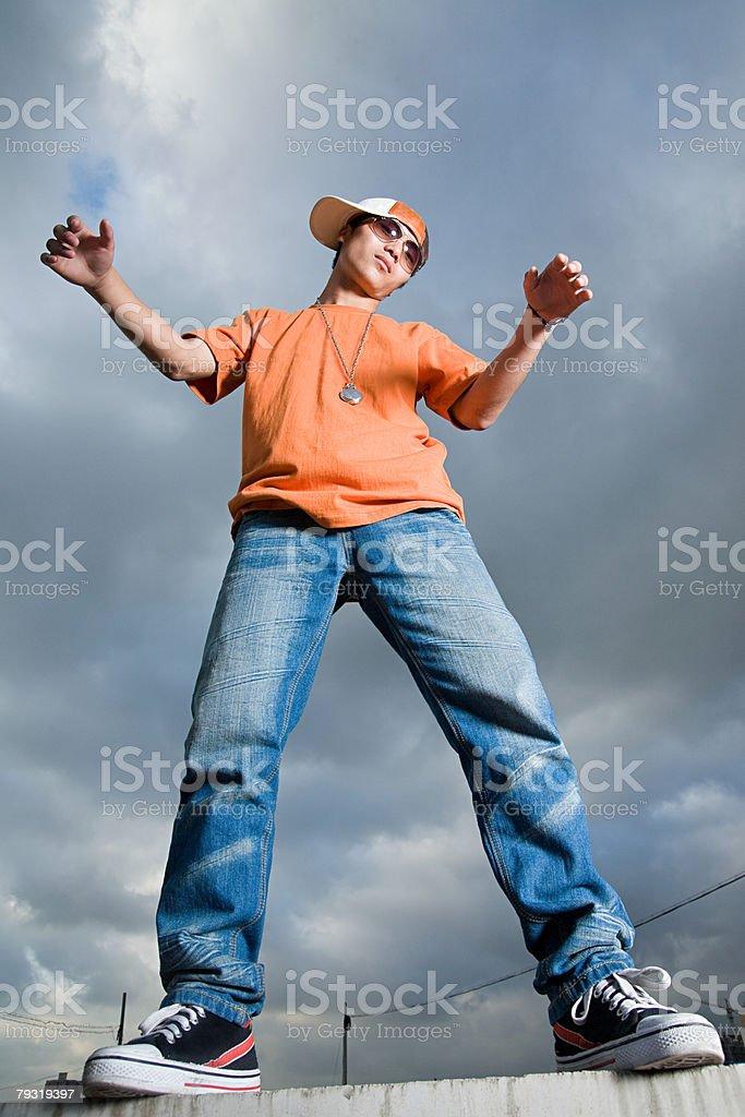 Young man posing 免版稅 stock photo