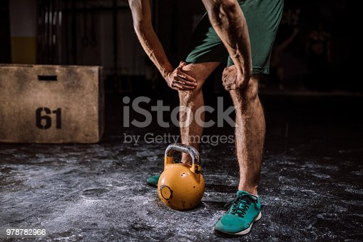 944655208 istock photo Young Man Preparing For lifting Barbell 978782966