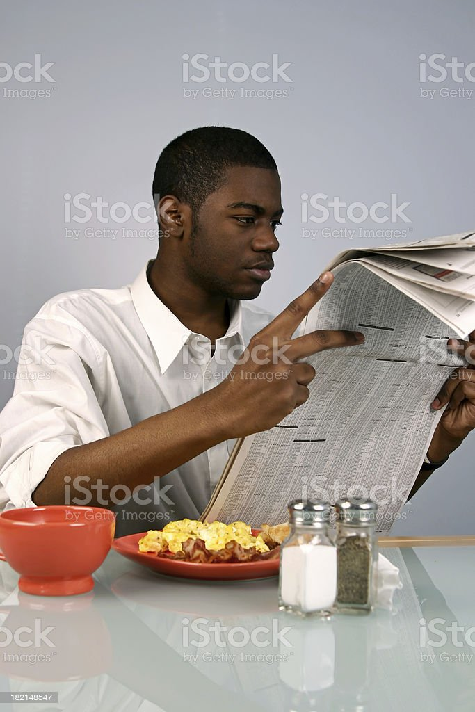 Young Man Reading II stock photo