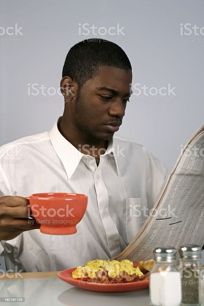 Young Man Reading royalty-free stock photo