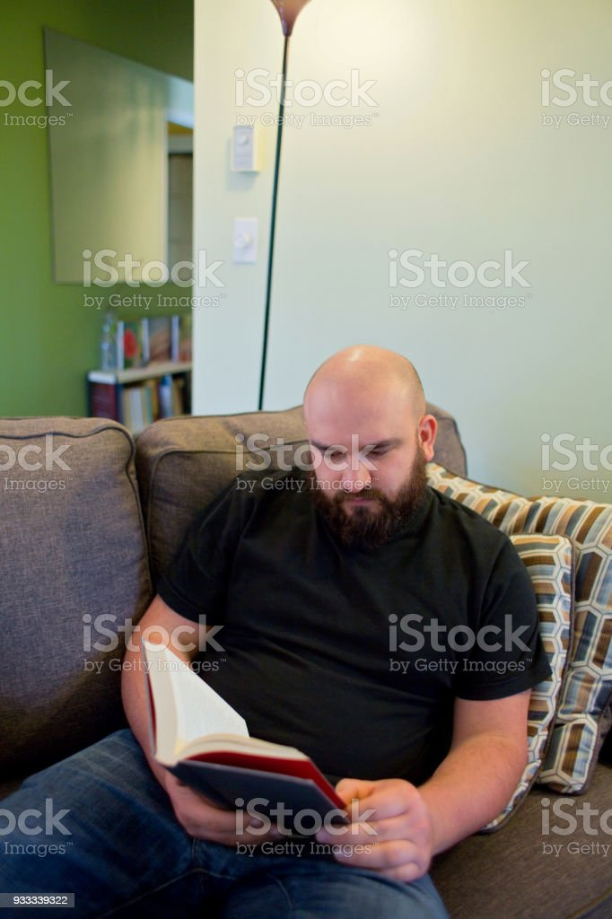 Young Man Reading stock photo
