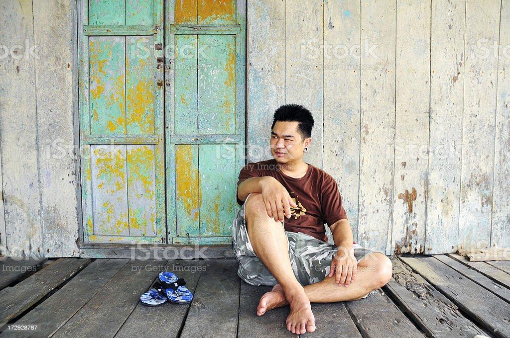 Young Man Relaxing stock photo