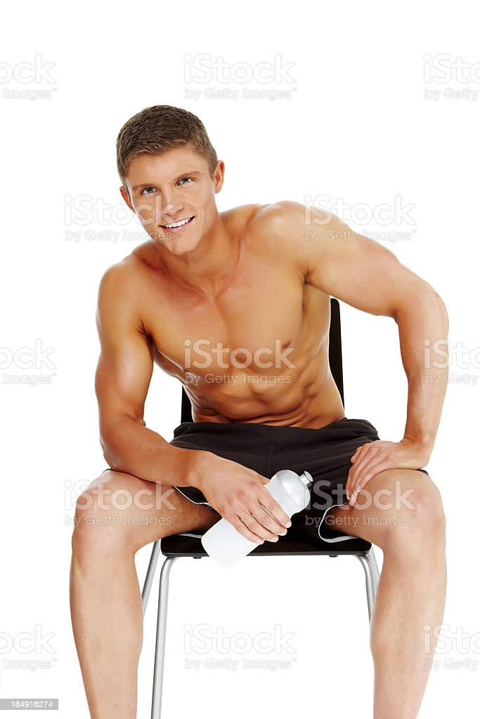 Young Man Resting After a Workout royalty-free stock photo