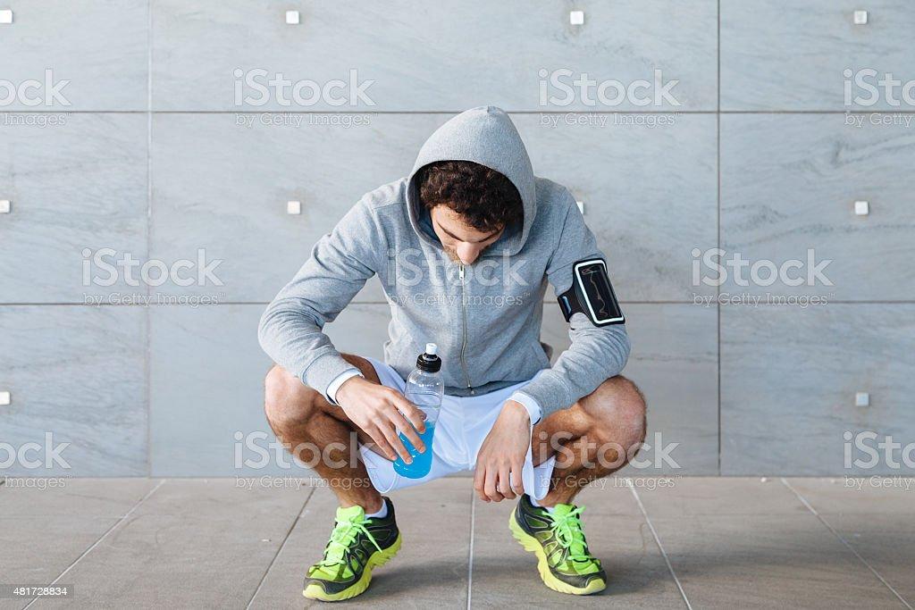 Junger Mann auf einem Lauf – Foto