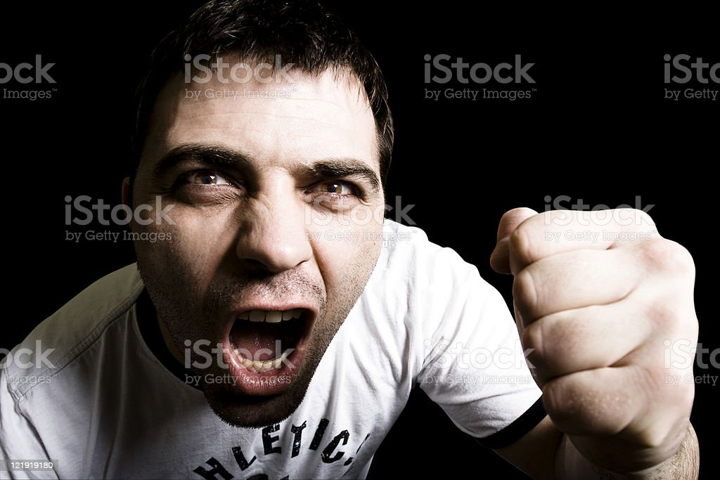 young man screaming royalty-free stock photo