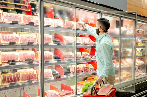 Man shopping during quarentine