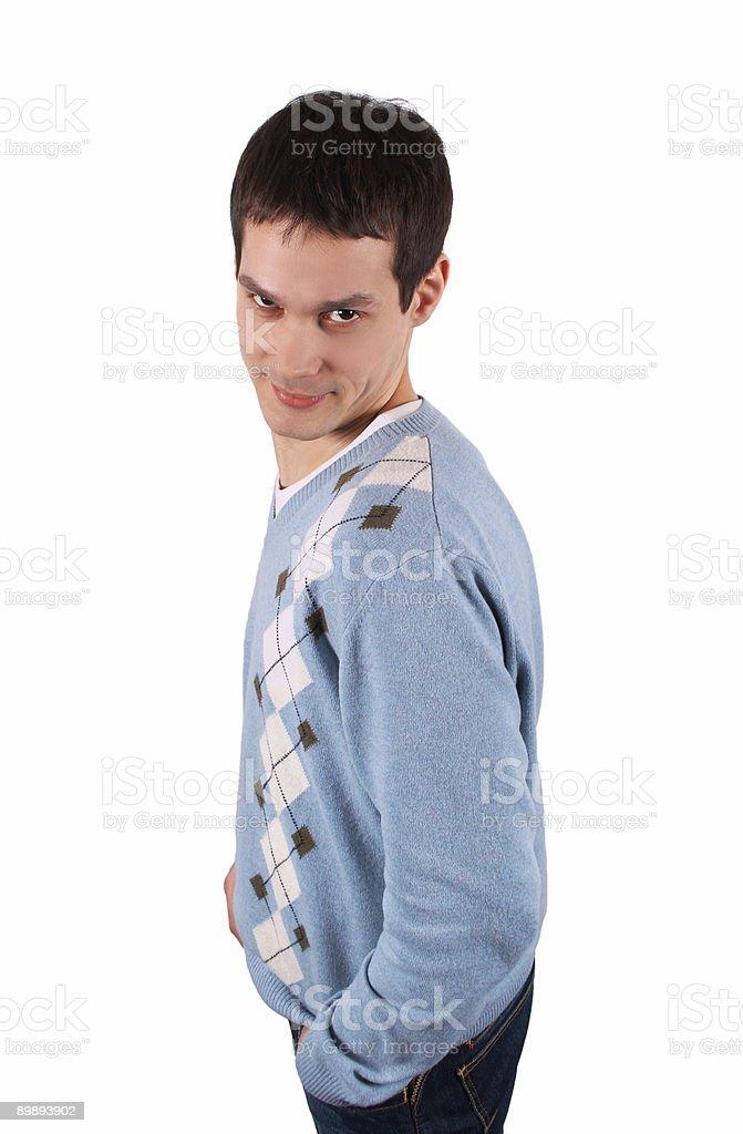 Hombre joven sideview foto de stock libre de derechos