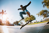 istock Young Man Skateboarding in Los Angeles 1209988354