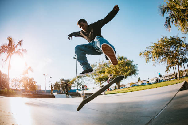 Young Man Skateboarding in Los Angeles