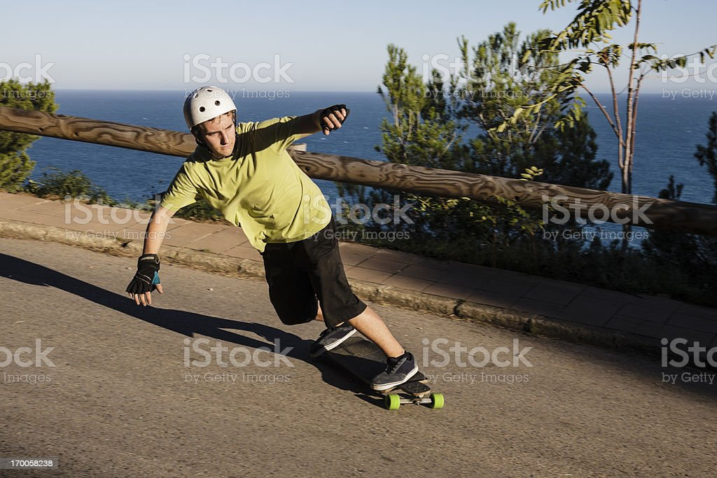 Young man skateboarding royalty-free stock photo