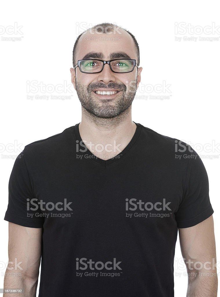 Young man smiling at camera royalty-free stock photo