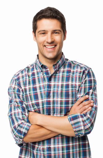 Young Man Smiling Isolated Stock Photo - Download Image Now