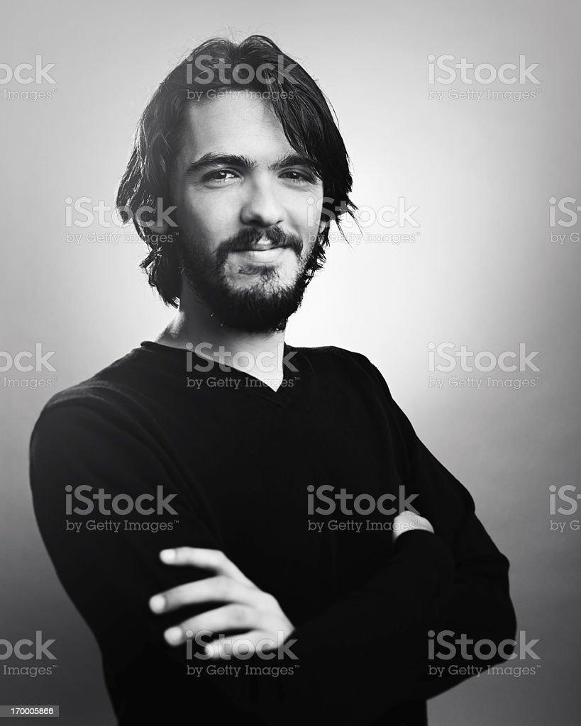Young man smiling bildbanksfoto