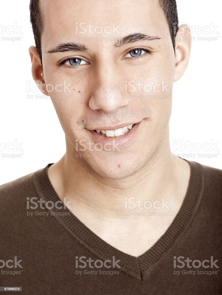 Young man smilling royalty-free stock photo