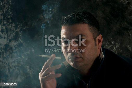 istock Young Man Smoking 154948353