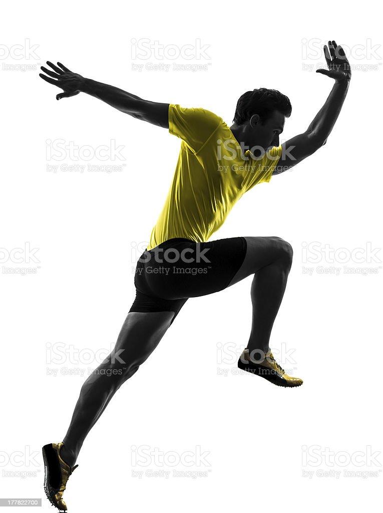 young man sprinter stock photo