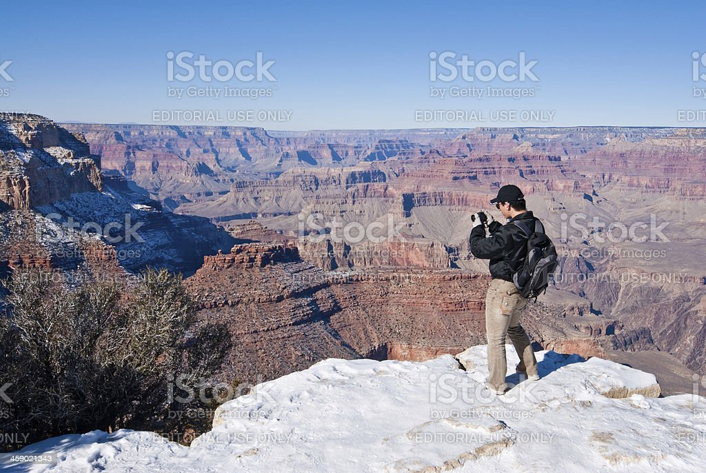 Photographing the Grand Canyon royalty-free stock photo