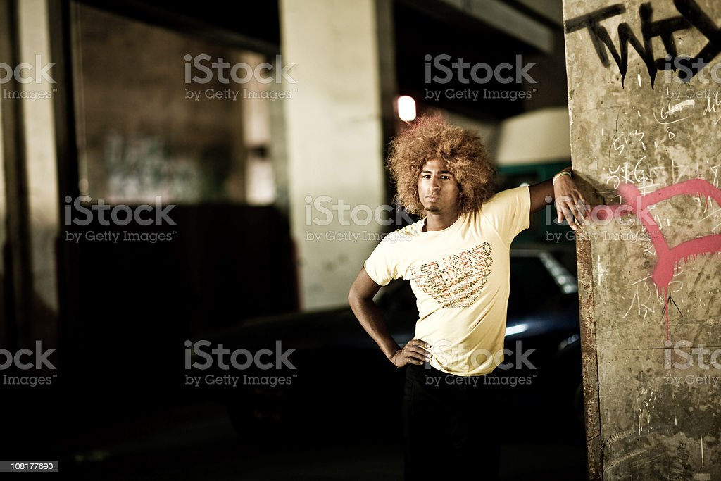 Young Man Standing in Urban Environment royalty-free stock photo