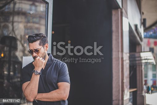 542972720 istock photo Young man standing outdoors 844751142