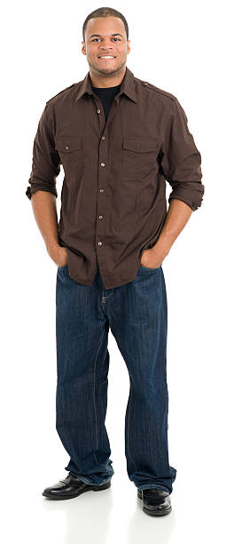 Young Man Standing Portrait stock photo