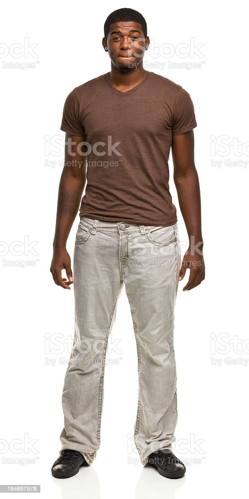 Young Man Standing Portrait royalty-free stock photo