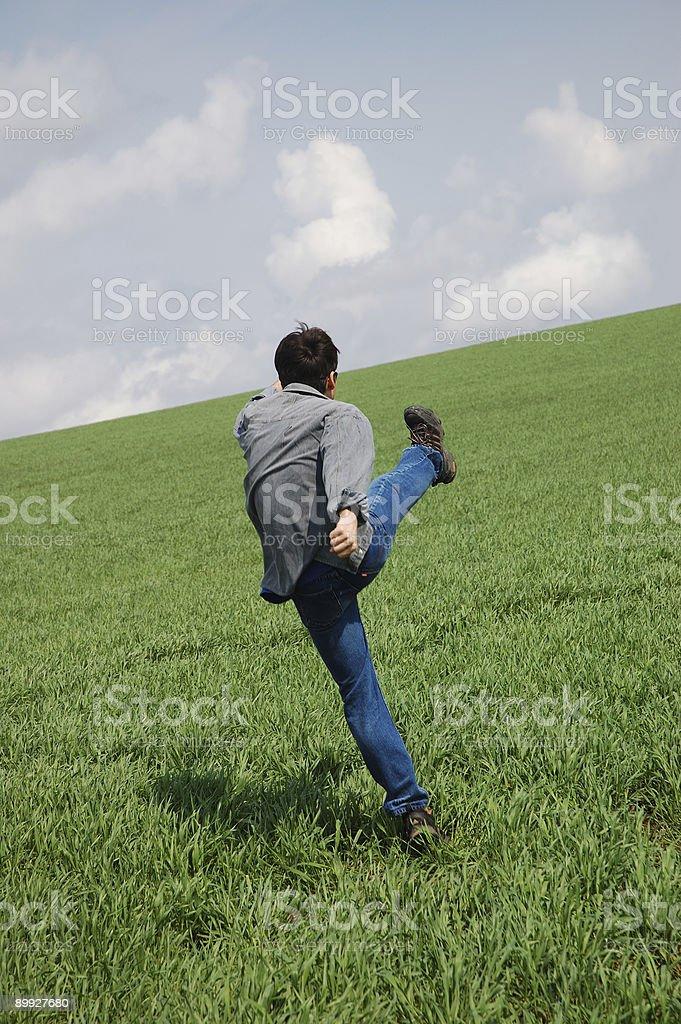 Young man start running #2 royalty-free stock photo