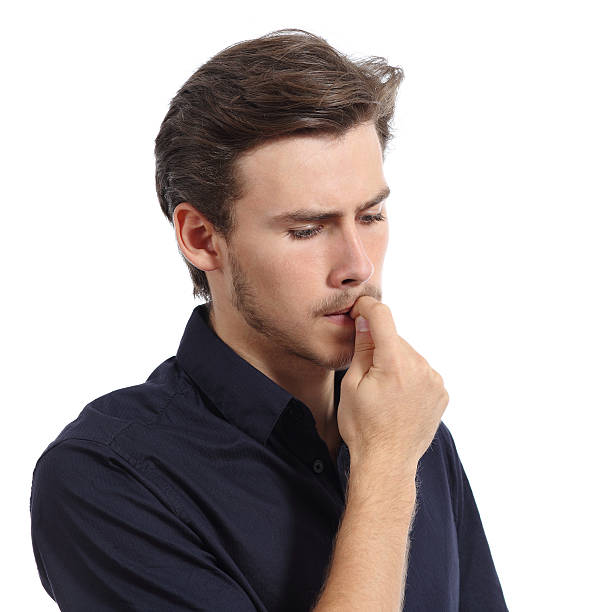 Royalty Free Man Biting Nails Pictures, Images and Stock Photos - iStock