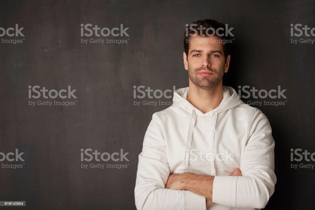 Young man studio portrait стоковое фото
