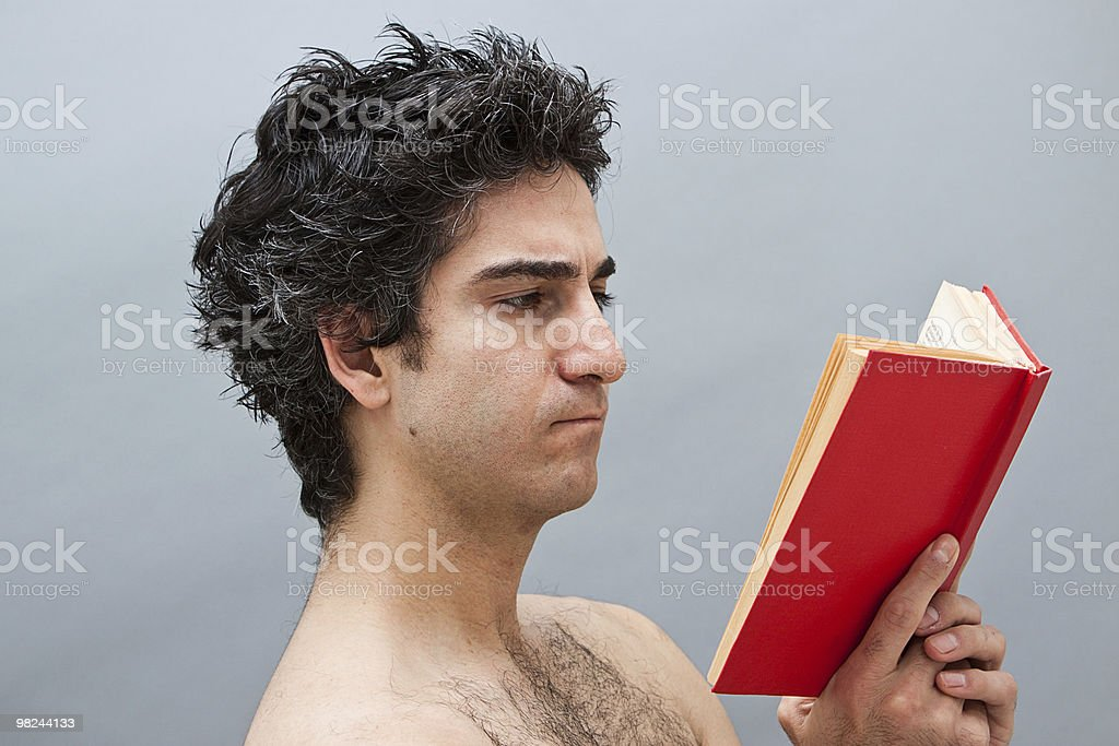 Young man studying for exams royalty-free stock photo
