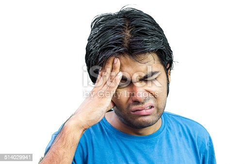 istock Young man suffering from headache 514029941