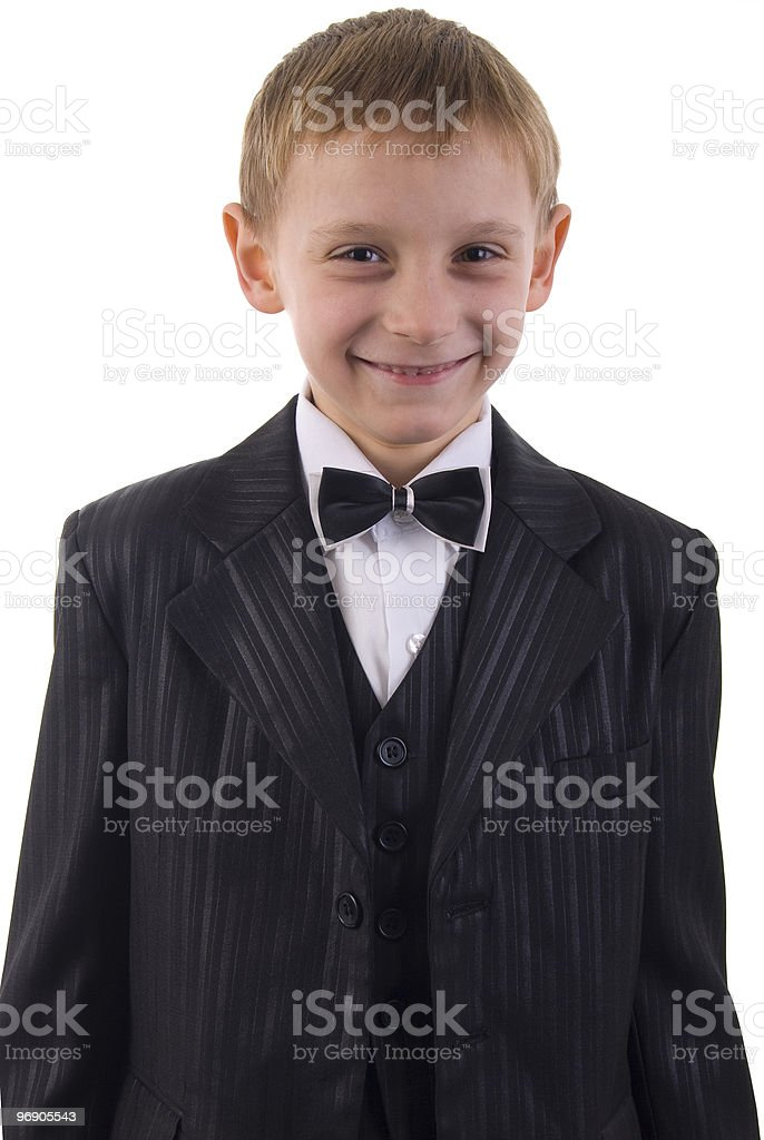 Young Man Suit Portrait. royalty-free stock photo