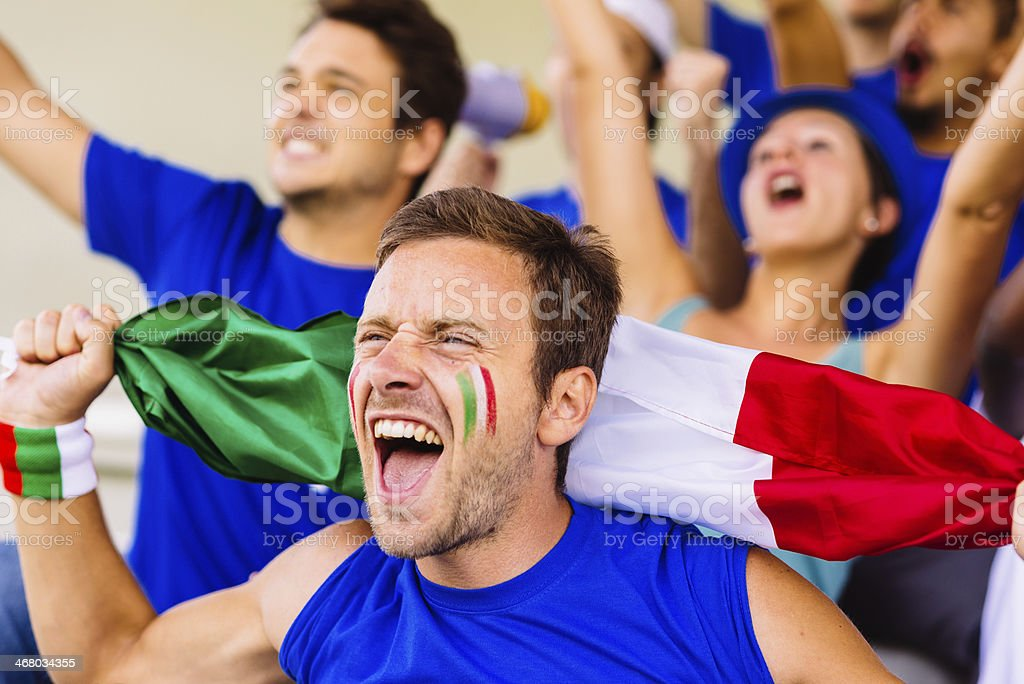 young man supporting italy royalty-free stock photo