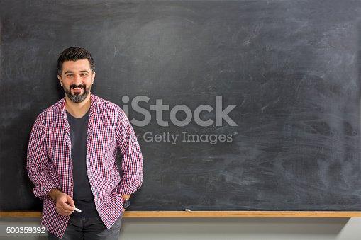 istock Young Man Teacher 500359392