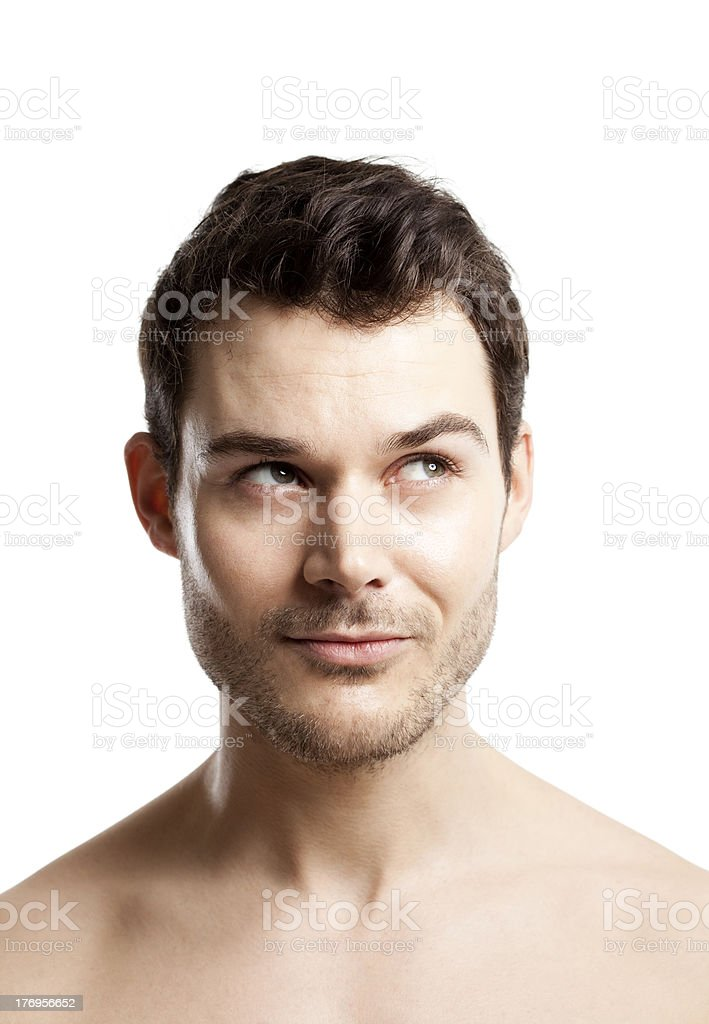 young man thinking about anything royalty-free stock photo