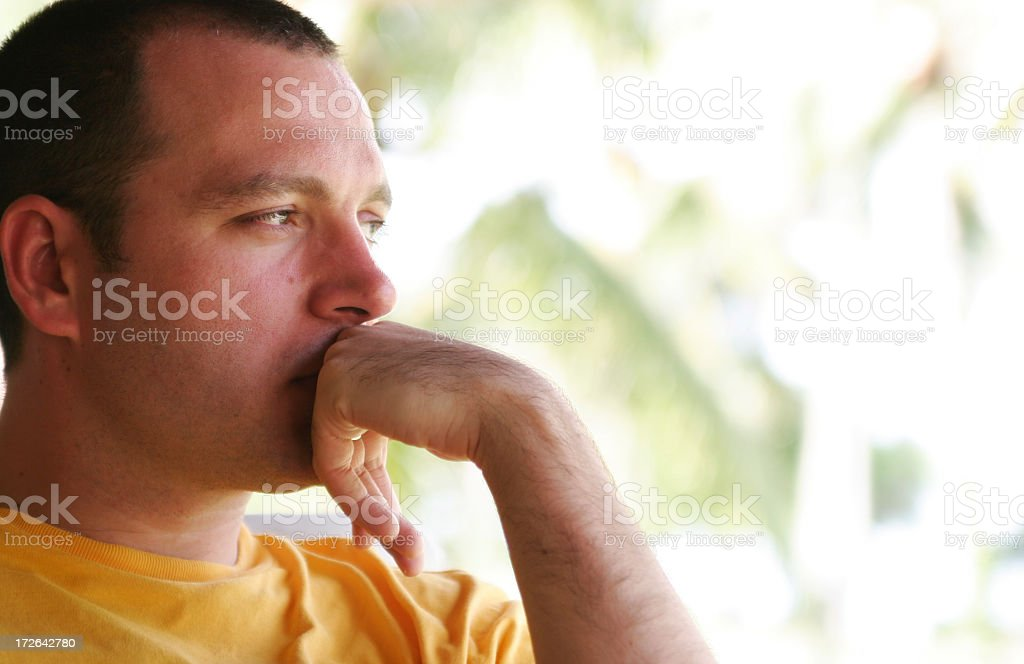 A young man thinking about life royalty-free stock photo