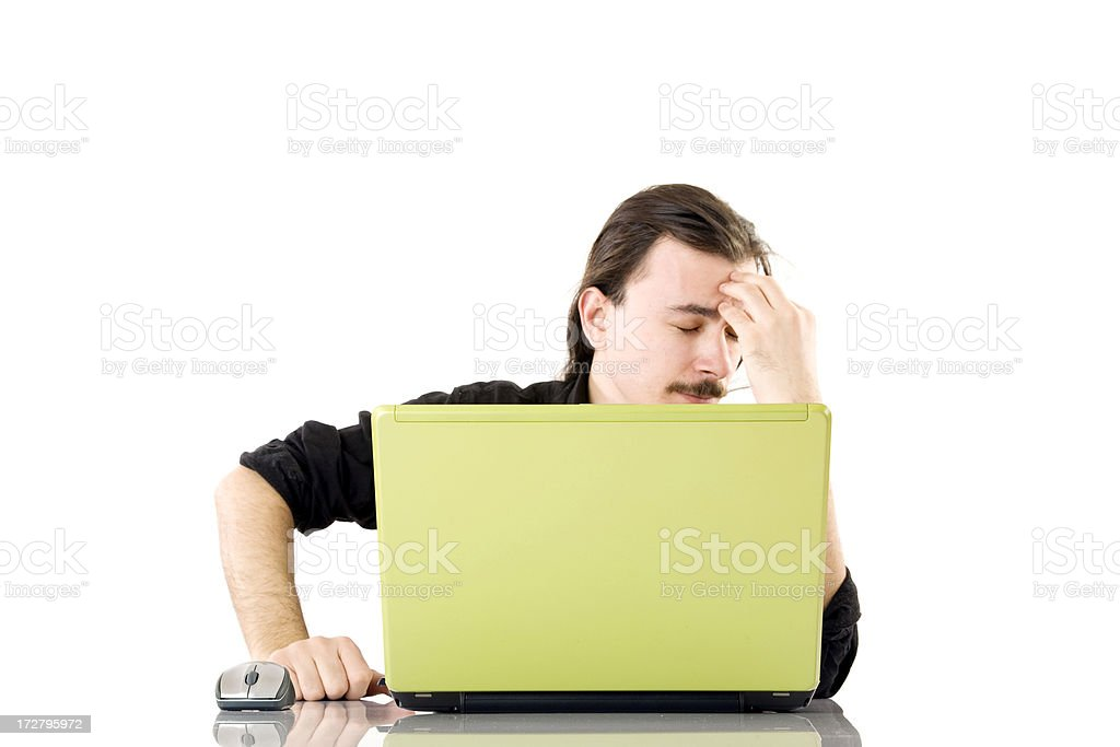 Young man thinking about problem royalty-free stock photo
