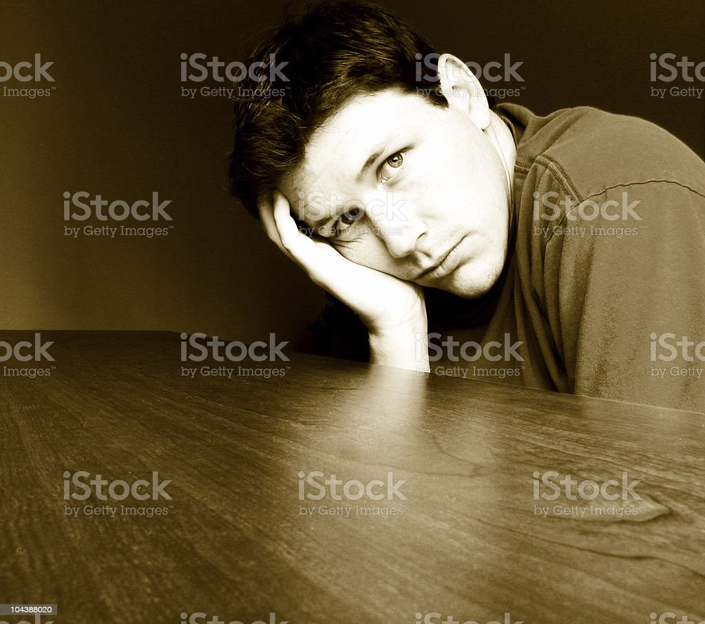 Young Man Thinking royalty-free stock photo