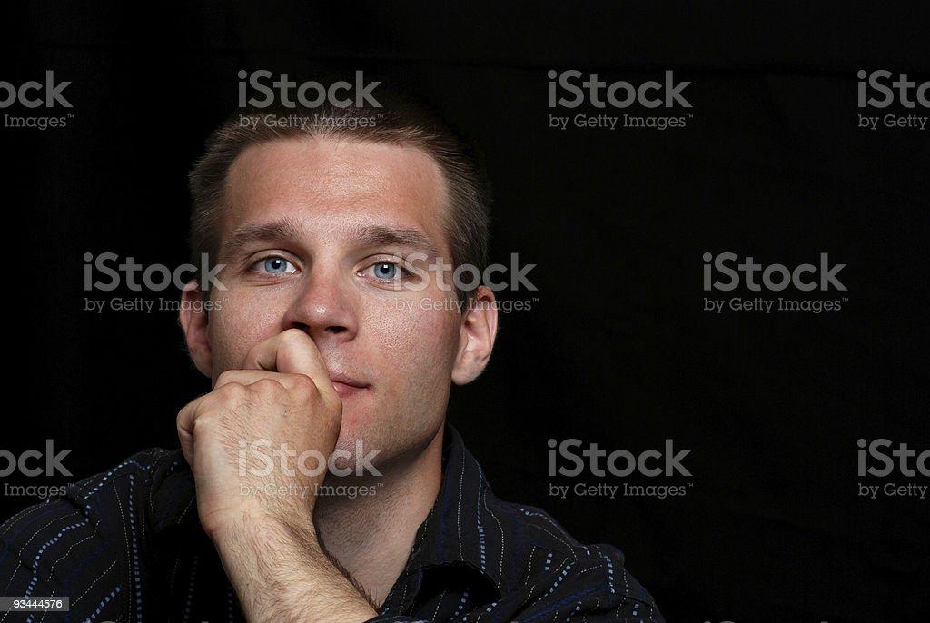Junger Mann Denken Lizenzfreies stock-foto